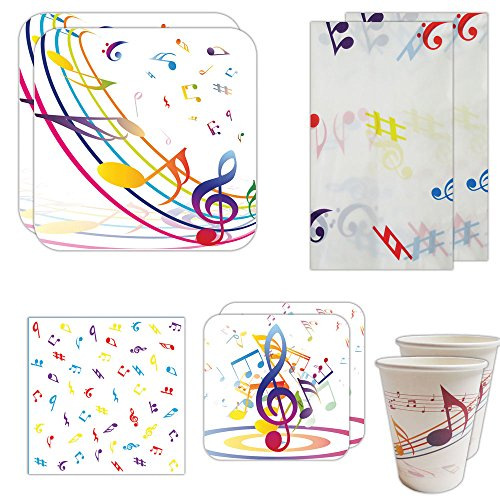 Blue Orchards Music Party Deluxe Party Packs (70 Pieces for 16 Guests!), Music Party Supplies -