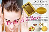 Pack of 6 Bars D-O Daily Whitening Pure Skincare Facial Gold Collagen Vitamin Soap Plus 6 Pcs/Bars