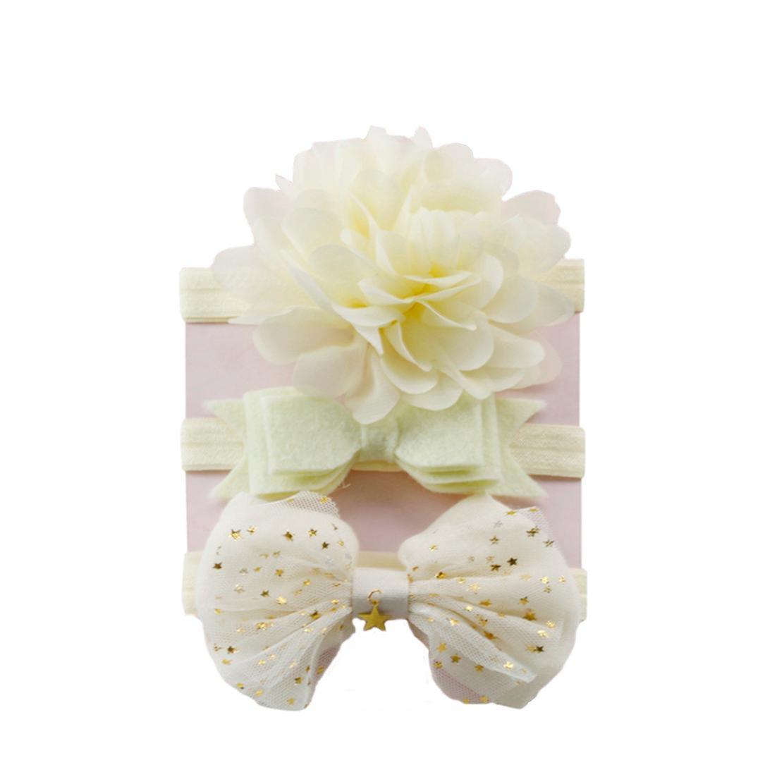 K-youth/® 3pcs Ni/ños El/ásticos Diadema Floral Pelo Ni/ñas Beb/é Bowknot Hairband Conjunto Mariposa Ni/ñas Banda Para La Cabeza Diadema Beb/é