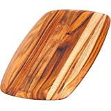 Teakhaus Teak Cutting Board - Rectangle Serving Board With Rounded Edges (12 x 8 x .55 in.) - By