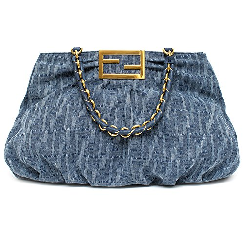 FENDI-canvas-Denim-Blue-Fonap-Soft-Tote-Bag-8-BR-616-Large-Satchel-New