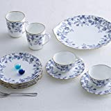 Noritake Sorrentino Cup and Saucer, Blue, Set of 2