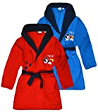 Boys Disney Mickey Mouse Dressing Gown Kids Soft Warm Fleece Robes