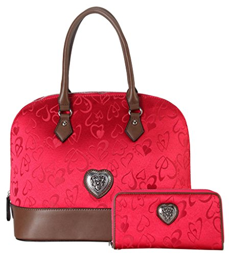 Rimen Leather Accented Heart shaped 015 3603