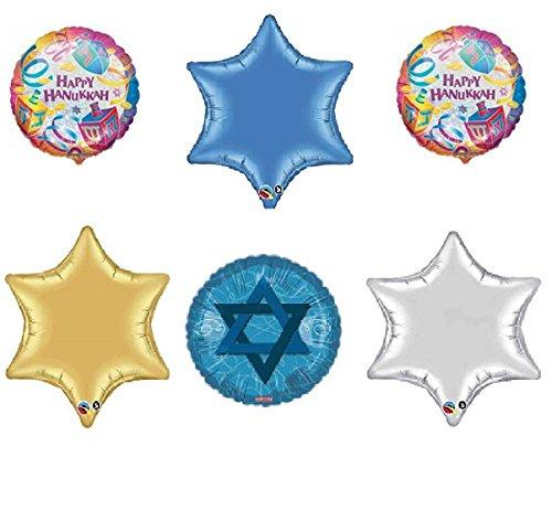 Happy Hanukkah Star (Set of 6 Happy Hanukkah Party Balloons)