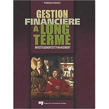Gestion financière à long terme