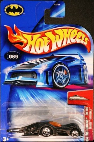 Hot Wheels 2004 First Editions 1:64 Scale Black Crooze Batmobile 69/100 1:64 Scale Collectible Die Cast Car