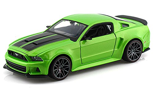 Maisto Ford Mustang Street Racer, Green 31506 - 1/24 Scale Diecast Model Toy Car -  31506GN