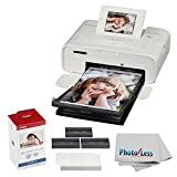 Canon SELPHY CP1200 Wireless Compact Photo Printer with KP-108IN Photo Paper & Ink Kit (White) + Photo4Less Cleaning Cloth + Ultimate Dye-Sub Printer Bundle