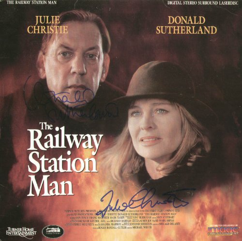Railway Station Man Movie Cast - Laser Media Cover Signed with co-signers