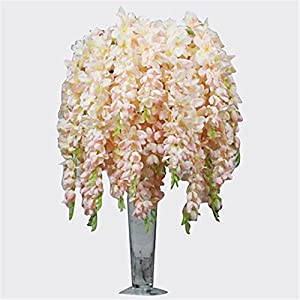 JJH 1 Branch Polyester Orchids Tabletop Flower Artificial Flowers 94