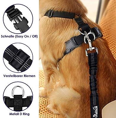 SlowTon Arnés de Seguridad para Perro, cinturón de Seguridad ...