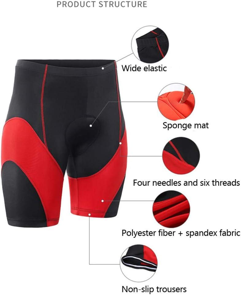 LHL Shorts De Cyclisme De Sport pour Hommes Collants De Cyclisme Shorts De V/élo De Route Rembourr/és en /éponge 5D Shorts De V/élo Respirants /à S/échage Rapide,Grey-M