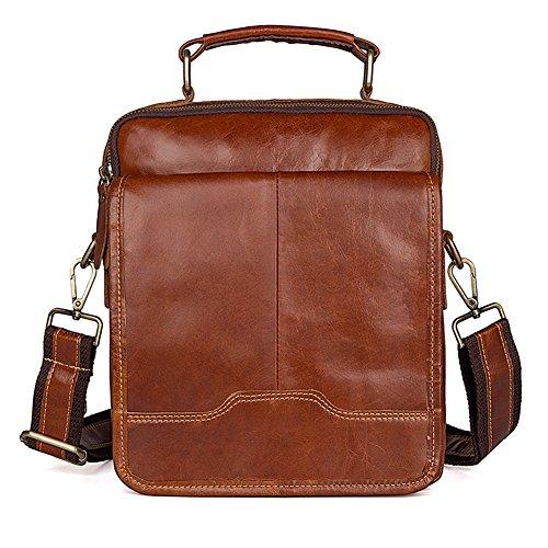 kinokoo Mens Shoulder Bag Genuine Leather Messager Bag Crossboy Bag