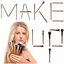 iLuminate 22pc Makeup Brushes Set, Premium Professional Makeup Brushes, Eye Makeup Brushes and Face Makeup Brushes, Rose Gold, Brushes Only, Perfect Makeup Present Set