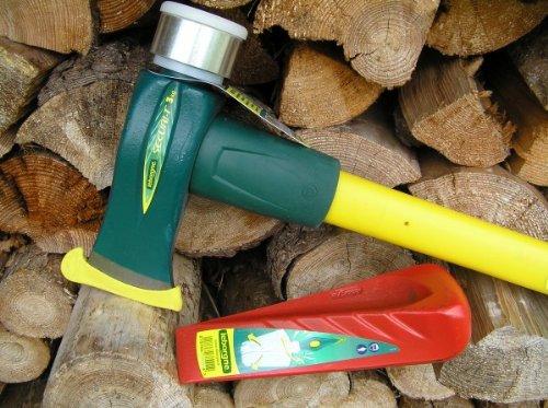leborgne 4,2kg Fiskars Brands Spalthammer mit Nylon Einschlagaufsatz + leborgne Drehspaltkeil im Set