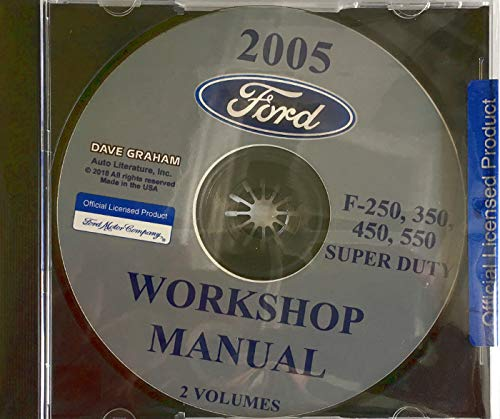 2005 FORD TRUCK FACTORY REPAIR SHOP And SERVICE MANUAL CD For F-250, F-350, F-450, F550 Super ()