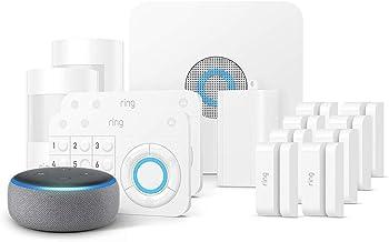 Ring Alarm 14 Piece Kit + Echo Dot (3rd Gen) Works with Alexa