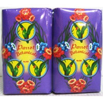 4x Parrot Legendary Thai Soap Puple Frangipani Bath Clean Fresh ( by abobon )best sellers