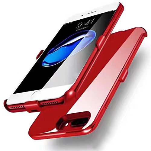 iPhone 6/6s/7 Plus Battery Case, GIZEE Ultra Slim 4000 mAh Portable Protective Rechargeable Charging Case for Apple iPhone 6 Plus/ iPhone 6S Plus/ iPhone 7 Plus 5.5 Inch - Red