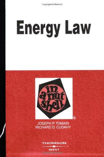 Energy Law in a Nutshell (Nutshell Series)