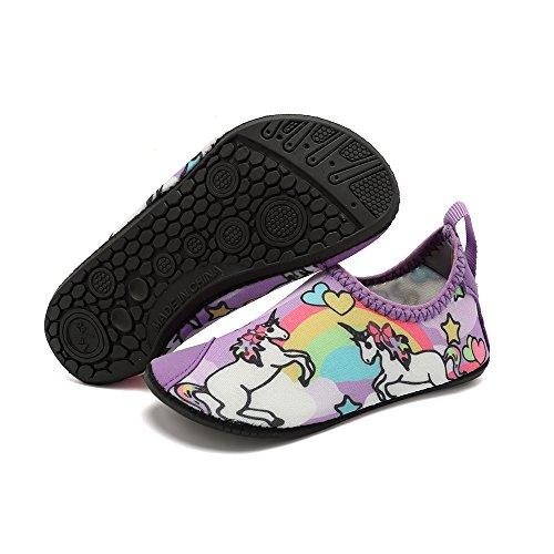 HooyFeel Cute Kids Toddler Sneakers Lightweight Slip on Swim Water Shoes Aqua Barefoot Socks for Baba Boys and Girls by HooyFeel (Image #2)