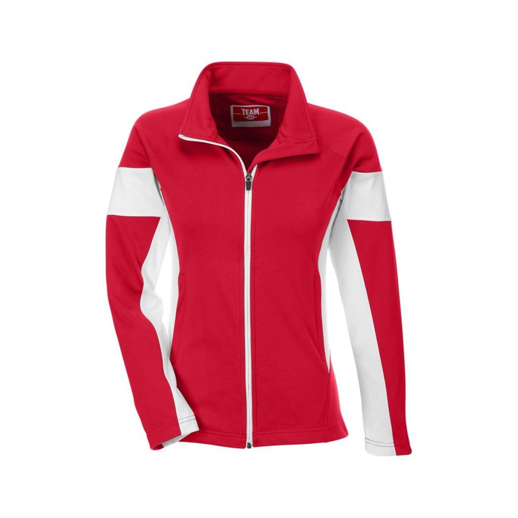 Team 365 Ladies Elite Performance Full-Zip (X-Small, Sport Red/White)