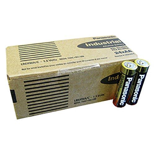 Panasonic - AA Size - Alkaline Battery - Industrial Grade - 24 Pack - LR6XWA