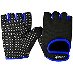 BOODUN Womens Mens Weight Lifting Gloves for Fitness Exercise, Gym Training (Blue, X-Large)
