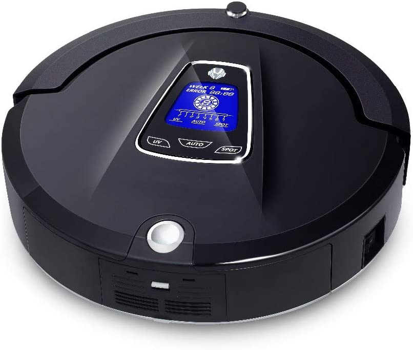 ZLAHY Robot de balayage Robot aspirateur multifonction multifonction (stérilisation par balayage à vide), bloqueur virtuel, charge automatique, noir Noir