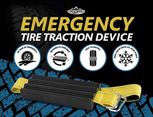TRACGRABBER Trac-Grabber - Snow, Mud and Sand Tire Traction Device, Set of 2 - for Trucks and Large SUVs, Easy to Install - A Snow Traction Mat Alternative - Get Unstuck