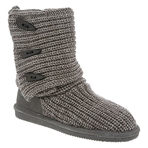 Bearpaw Tall 10 Gray Womens Knit dTXqFWw