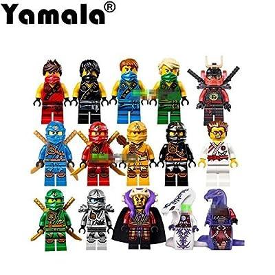 24PCS Ninja Ninjago Jay Cole Kai Pythor Lloyd Chen Mini figures Fits LEGO Toys @