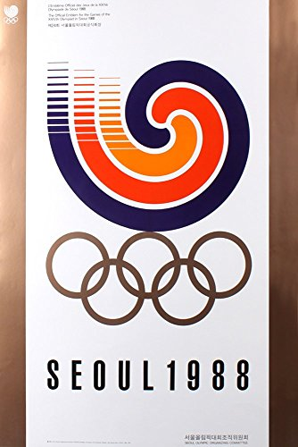 - Grindstore 1988 Seoul Olympic Games The Official Emblem for The Games 59x84cm