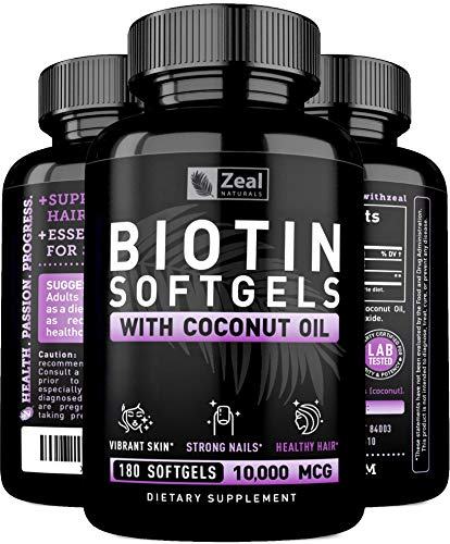 10000mcg Organic Coconut Softgels Supplement product image