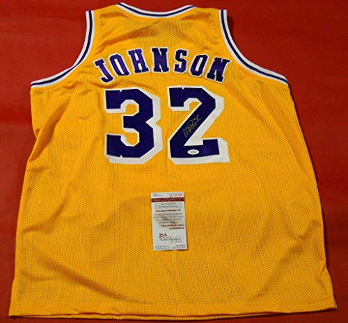 Magic Johnson Autographed Signed Los Angeles Lakers Jersey JSA Authentic Last One ()