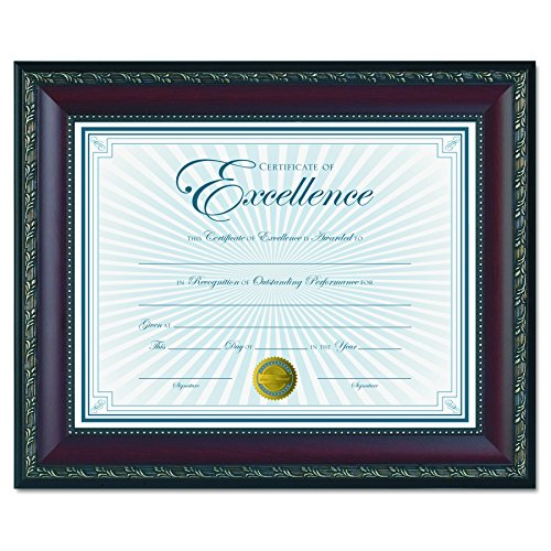 Dax World Class Document Frame with Certificate, Walnut, 8 1/2 x 11 Inches (N3245N2T) ()