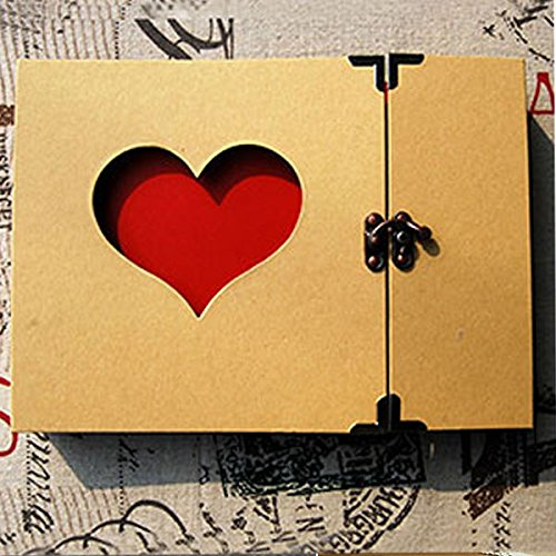 Tiptiper Creative Hollowed Heart Love Shape Photo Photography Image Album Scrapbook Green Cover Sticker DIY Craft Memory