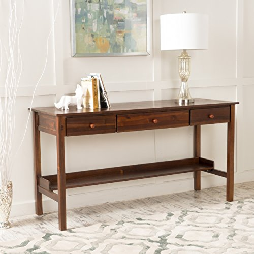Oswald Rich Mahogany Finish Wood Console (Mahogany Finish Console Table)