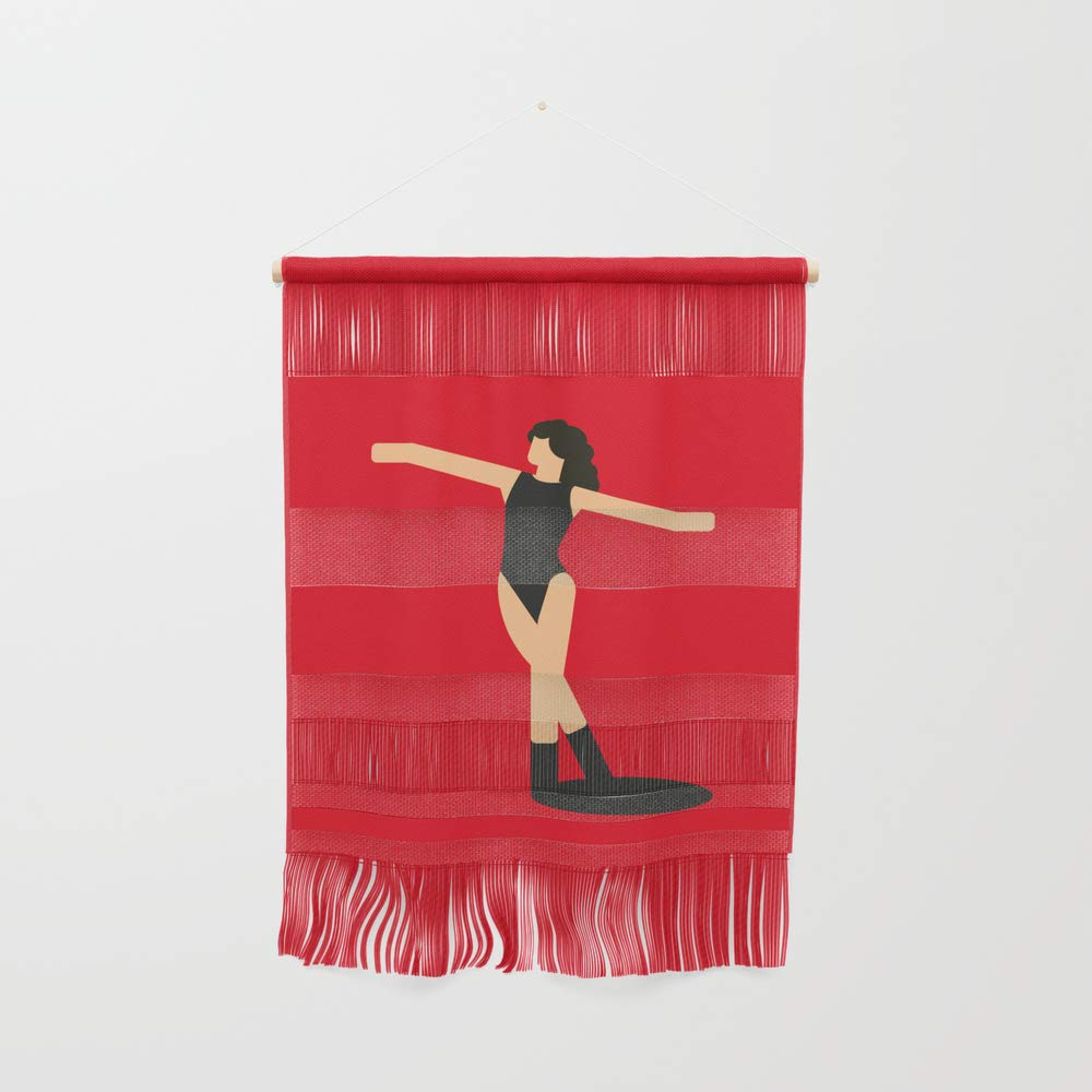 Society6 Wall Hanging, Size Small 11 1/4'' x 15 1/2'', Flash Dance by mariacaballer