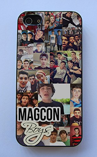 MAGCON BOYS Collage Nash Grier Cameron Dallas Fitted Rubber Cell Phone Case for iPhone 5C