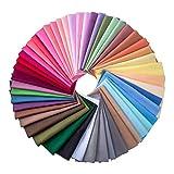 50 Pieces Multi-colors Fabric Patchwork Cotton Mixed Squares Bundle Sewing Quilting Craft, 50 Colors (20 x 20 cm)