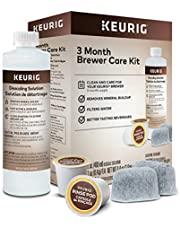 Keurig Includes Descaling Solution, Water Filter Cartridges & Rinse Pods