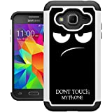 J3 2016 Case, Galaxy Express Prime Case, Amp Prime Case, UrSpeedtekLive [Shock Absorption] Dual Layer Hybrid Defender Cover Case for Samsung Galaxy J3 2016 / Express Prime / Amp Prime - Don't Touch