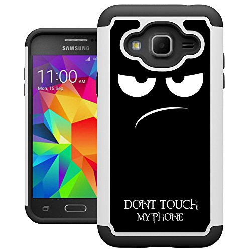 J3 2016 Case, Galaxy Express Prime Case, Amp Prime Case, UrSpeedtekLive [Shock Absorption] Dual Layer Hybrid Defender Cover Case for Samsung Galaxy J3 2016/Express Prime/Amp Prime - Dont Touch