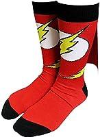Flash Logo Caped Crew Socks - Sock Size: 10-13. Fits Shoe Size: 6-12