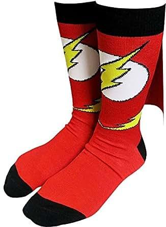 Flash Logo Caped Crew Socks - Sock Size: 10-13. Fits Shoe Size: 8-12