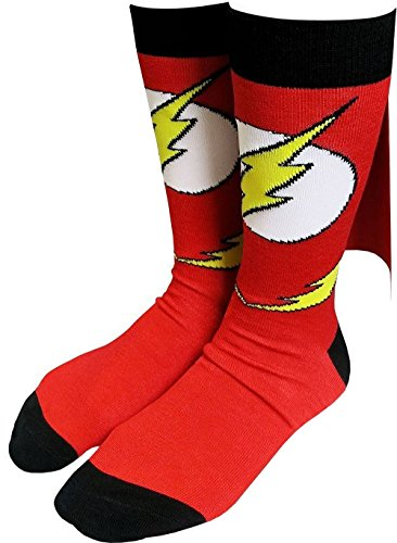 Flash Logo Caped Crew Socks - Sock Size: 10-13. Fits Shoe Size: 8-12 Mens Flash
