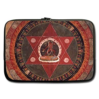 Bajo precio venta – rojo triángulos Star Mandala portátil/Bolsa del ordenador portátil de 13