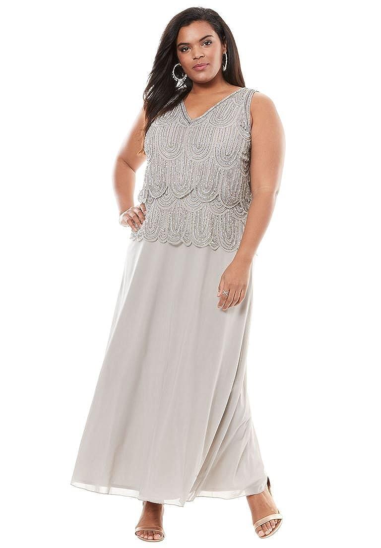 Pisarro Nights Women\'s Plus Size Scallop Beaded Dress by Pisarro ...